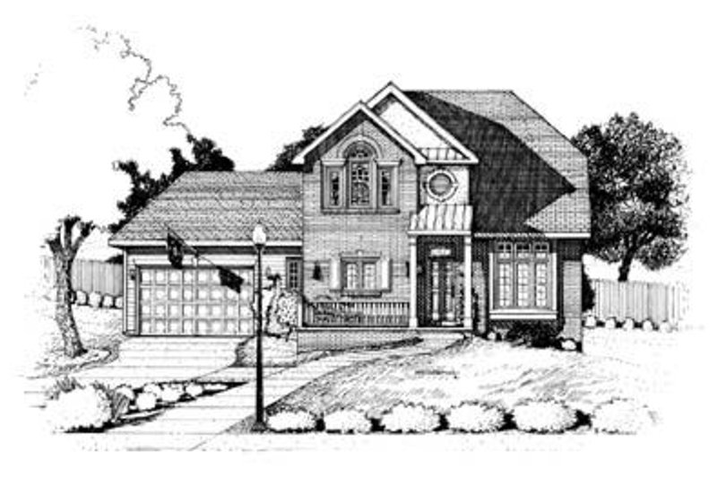 Traditional Exterior - Front Elevation Plan #20-498 - Houseplans.com