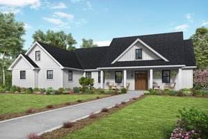 House Plan Design - Farmhouse Exterior - Front Elevation Plan #48-980
