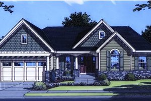 Architectural House Design - Traditional Exterior - Front Elevation Plan #46-111