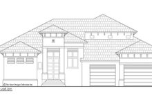 Contemporary Exterior - Front Elevation Plan #930-504