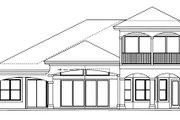 European Style House Plan - 3 Beds 2.5 Baths 2931 Sq/Ft Plan #27-444 Exterior - Rear Elevation