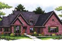Dream House Plan - European Exterior - Front Elevation Plan #70-850