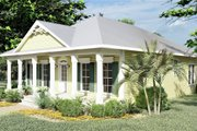 Southern Style House Plan - 3 Beds 2 Baths 1587 Sq/Ft Plan #44-151 Exterior - Other Elevation
