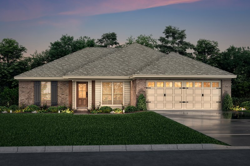 Home Plan Design - European Exterior - Front Elevation Plan #430-58