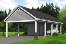 Dream House Plan - Traditional Exterior - Front Elevation Plan #932-329