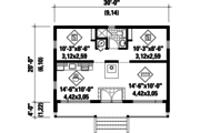 Contemporary Style House Plan - 2 Beds 1 Baths 600 Sq/Ft Plan #25-4569 Floor Plan - Main Floor Plan