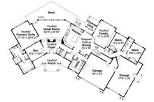 Craftsman Floor Plan - Main Floor Plan Plan #124-1148