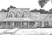 Country Style House Plan - 4 Beds 3 Baths 2674 Sq/Ft Plan #310-623 Exterior - Front Elevation