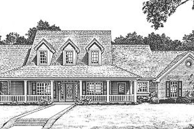 Country Exterior - Front Elevation Plan #310-623 - Houseplans.com