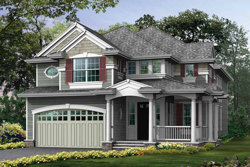 Craftsman Exterior - Front Elevation Plan #132-330 - Houseplans.com
