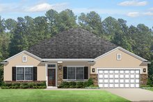 Colonial Exterior - Front Elevation Plan #1058-123
