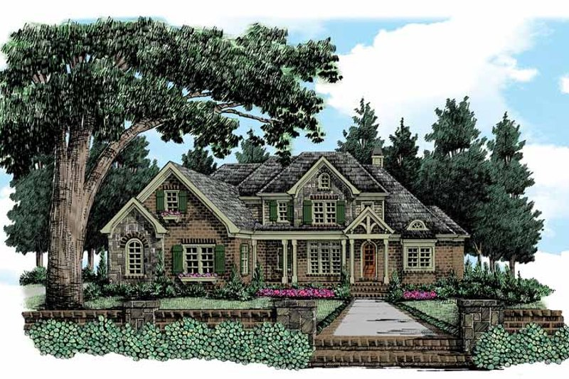 Architectural House Design - European Exterior - Front Elevation Plan #927-364