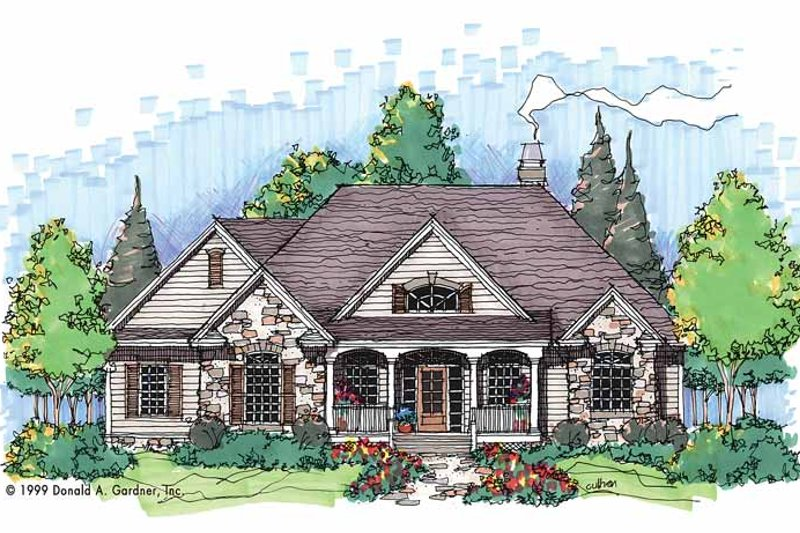 Country Exterior - Front Elevation Plan #929-494 - Houseplans.com