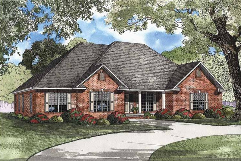 Country Exterior - Front Elevation Plan #17-2948