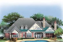 Craftsman Exterior - Rear Elevation Plan #929-848