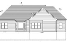 Ranch Exterior - Rear Elevation Plan #1010-74