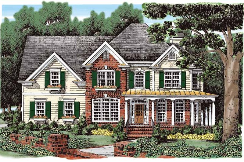 Country Exterior - Front Elevation Plan #927-270