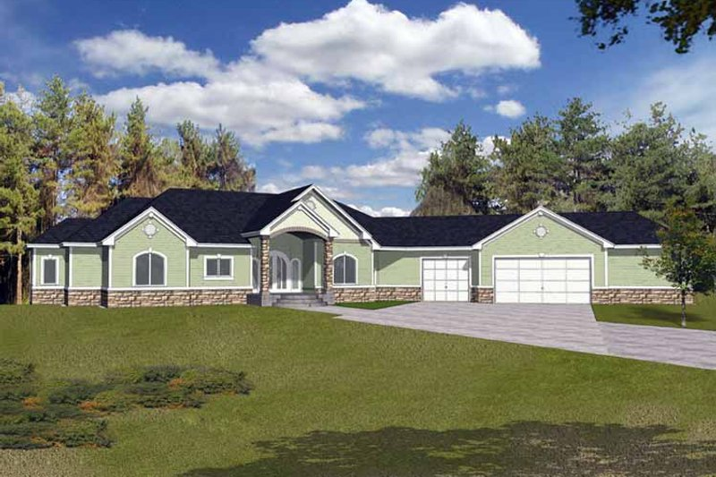 Traditional Exterior - Front Elevation Plan #1037-12 - Houseplans.com