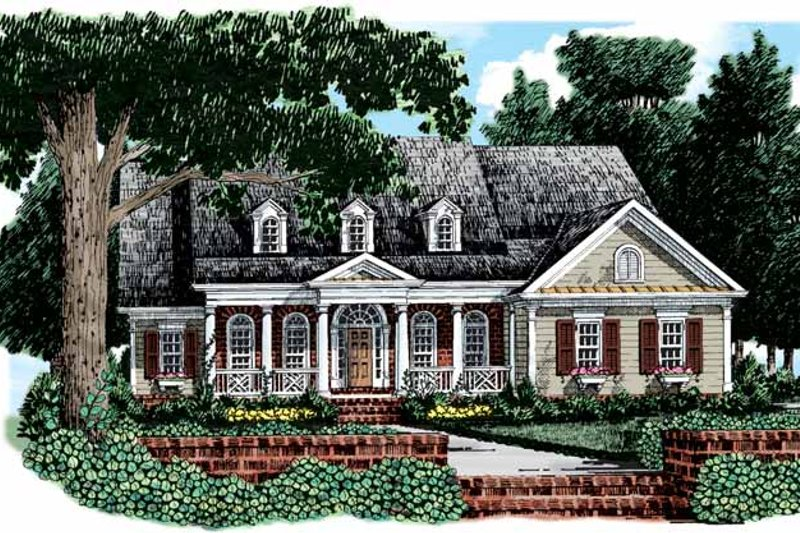 Colonial Exterior - Front Elevation Plan #927-603