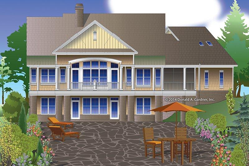 Traditional Exterior - Rear Elevation Plan #929-980 - Houseplans.com
