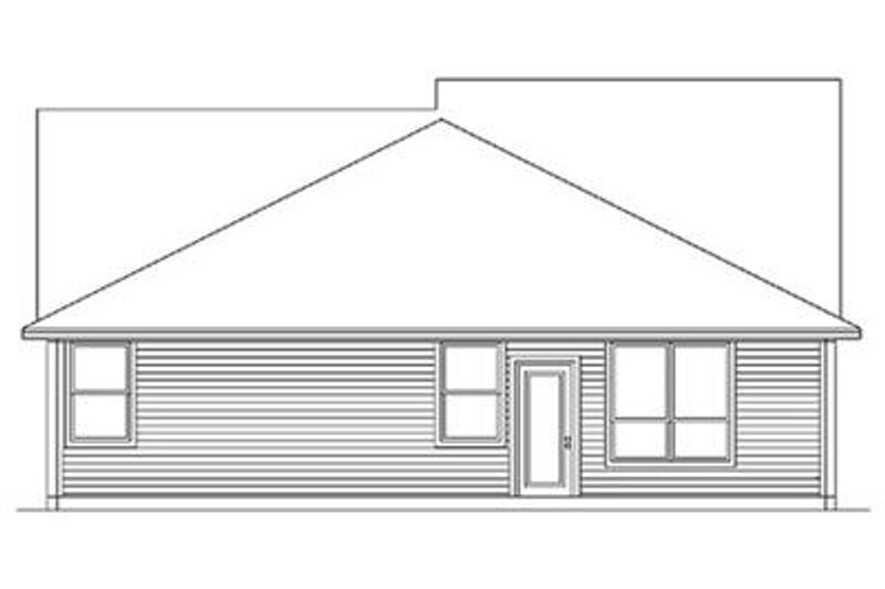 Cottage Exterior - Rear Elevation Plan #84-267 - Houseplans.com