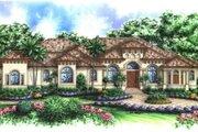 Mediterranean Style House Plan - 5 Beds 4.5 Baths 4354 Sq/Ft Plan #27-375