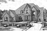 European Style House Plan - 5 Beds 3.5 Baths 3936 Sq/Ft Plan #310-224 Exterior - Front Elevation