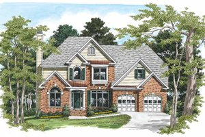 Home Plan Design - Traditional Exterior - Front Elevation Plan #927-155