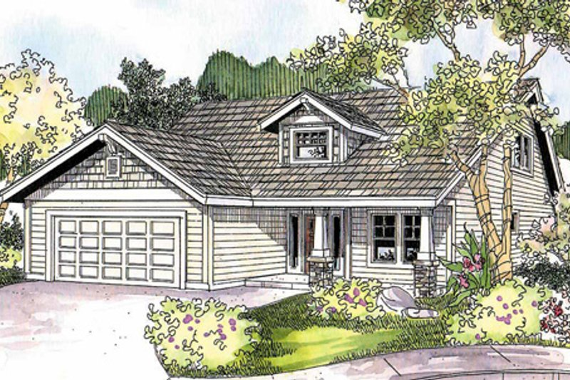 Exterior - Front Elevation Plan #124-692