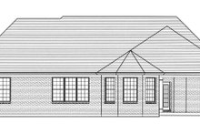Country Exterior - Rear Elevation Plan #46-820