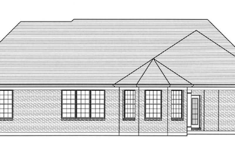 Country Exterior - Rear Elevation Plan #46-820 - Houseplans.com