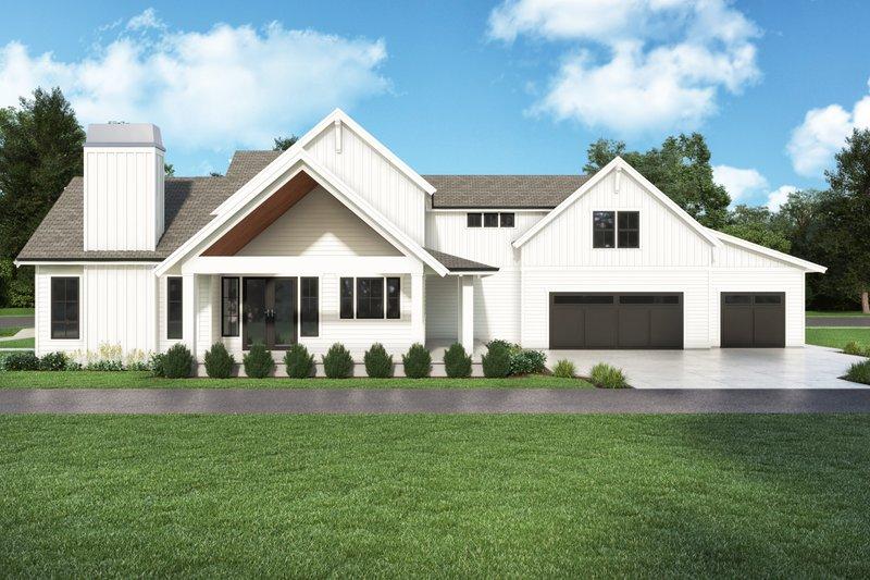 Home Plan - Farmhouse Exterior - Front Elevation Plan #1070-132