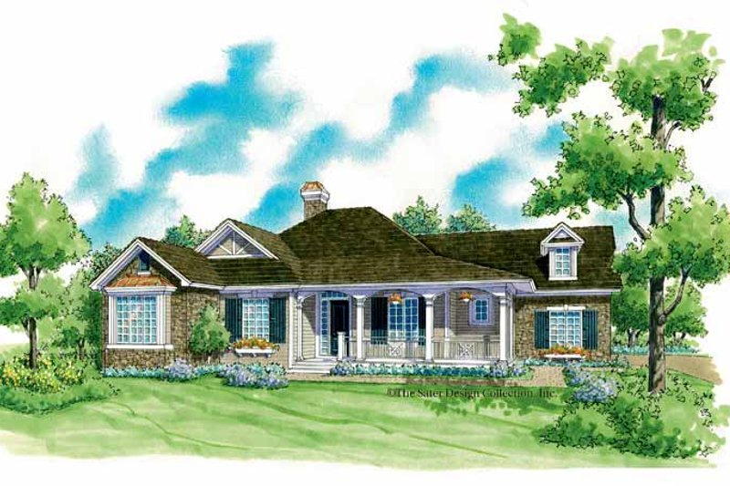 Country Exterior - Front Elevation Plan #930-254