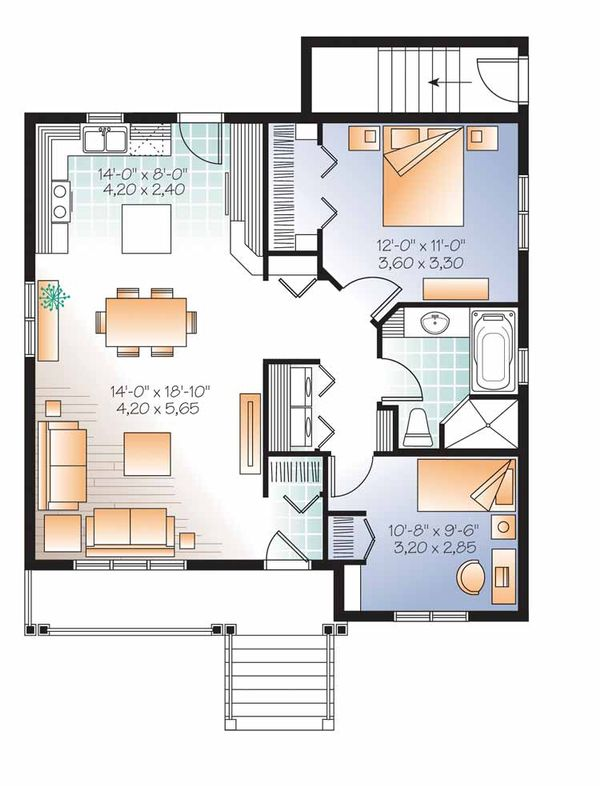 Country Floor Plan - Main Floor Plan Plan #23-2559