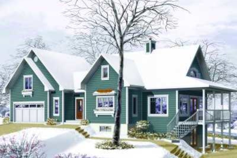 Traditional Exterior - Front Elevation Plan #23-391 - Houseplans.com