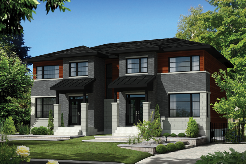 Contemporary Style House Plan - 6 Beds 2 Baths 3423 Sq/Ft Plan #25-4397 Exterior - Front Elevation