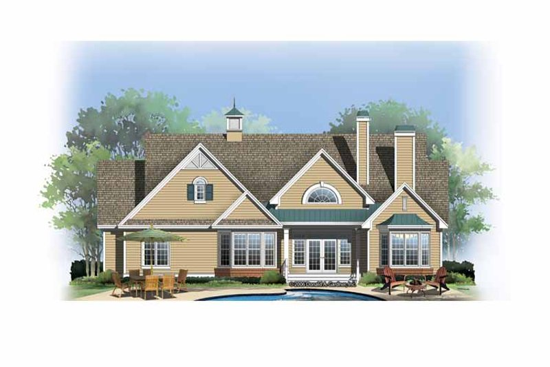 Ranch Exterior - Rear Elevation Plan #929-858 - Houseplans.com