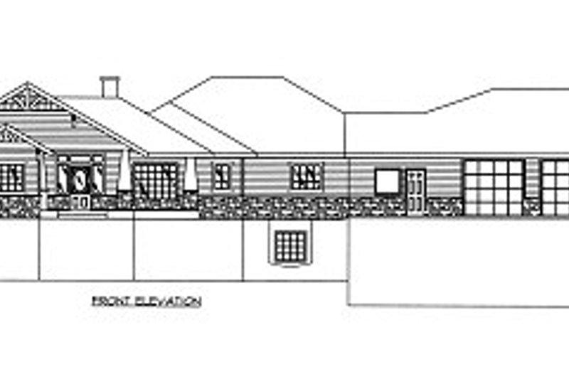 Bungalow Exterior - Other Elevation Plan #117-518 - Houseplans.com