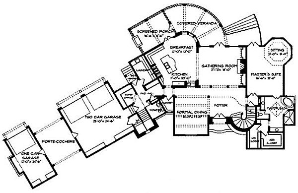 European Floor Plan - Main Floor Plan Plan #413-126
