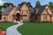 European Style House Plan - 3 Beds 2 Baths 1999 Sq/Ft Plan #119-420 Exterior - Front Elevation
