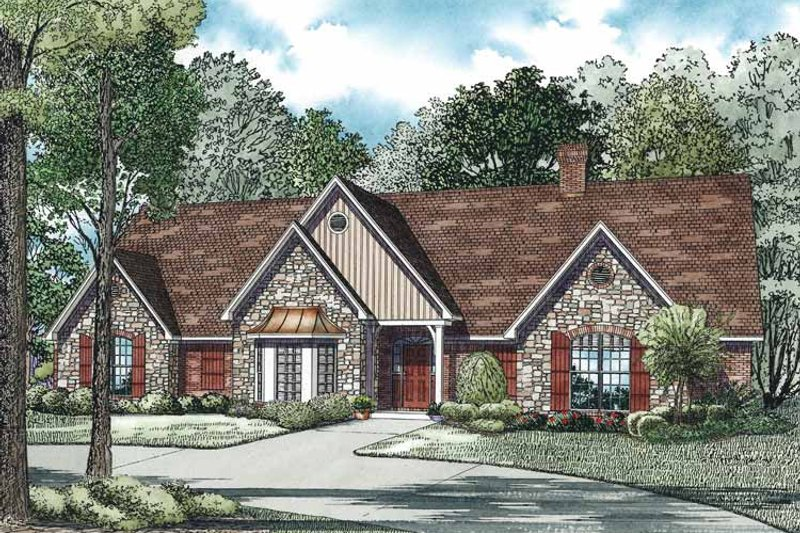 Traditional Exterior - Front Elevation Plan #17-3344