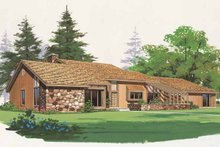 House Blueprint - Contemporary Exterior - Front Elevation Plan #72-763