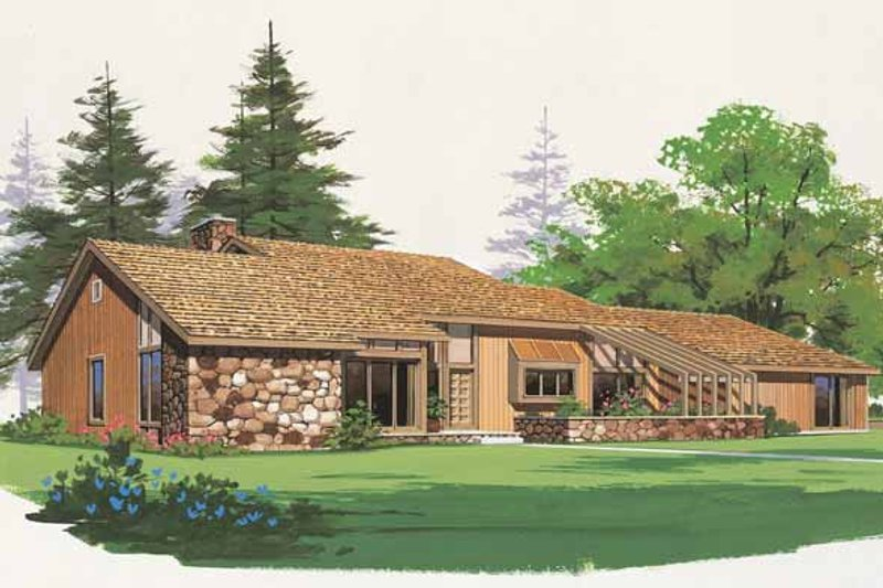 Home Plan - Contemporary Exterior - Front Elevation Plan #72-763