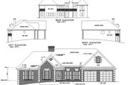 Southern Style House Plan - 3 Beds 2.5 Baths 2088 Sq/Ft Plan #56-163 Exterior - Rear Elevation