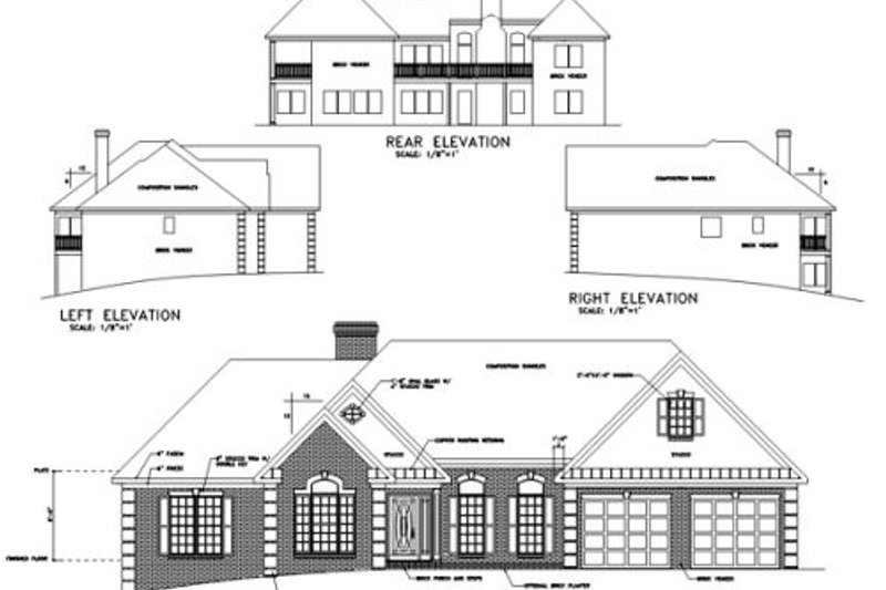Southern Exterior - Rear Elevation Plan #56-163 - Houseplans.com