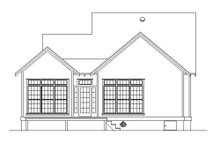 House Blueprint - Cottage Exterior - Rear Elevation Plan #45-585
