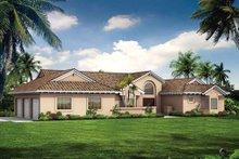House Blueprint - Mediterranean Exterior - Front Elevation Plan #72-131