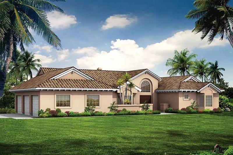 Dream House Plan - Mediterranean Exterior - Front Elevation Plan #72-131