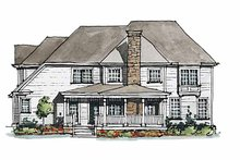 Home Plan Design - Colonial Exterior - Rear Elevation Plan #429-176