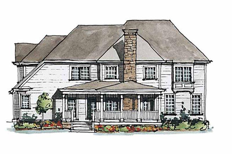 Colonial Exterior - Rear Elevation Plan #429-176 - Houseplans.com